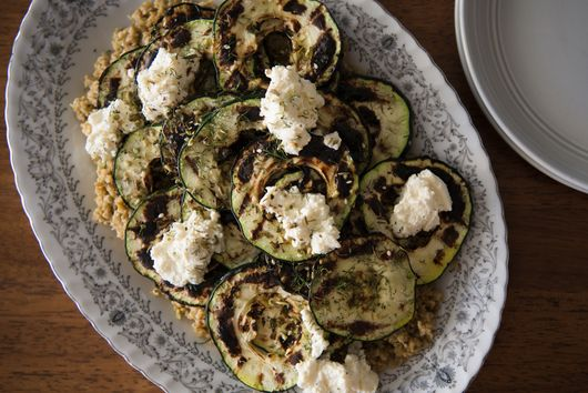 Freekeh with Grilled Zucchini and Ricotta