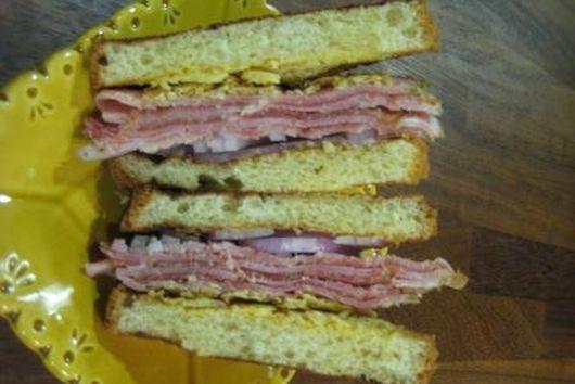 Sandwich w/ Ham, Proscuitto, Crispy Gruyere & Lemon Aioli