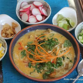 Khao Suey - Burmese Style Curried Noodle Soup