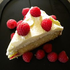 Raspberry Almond Cream Cake
