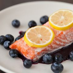 Blueberry Salmon Fillets