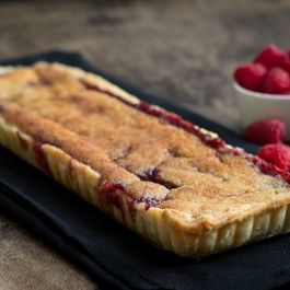 Frangipane and  Raspberry Tart
