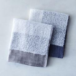Soft Linen & Cotton Colorblock Towels