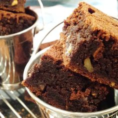 Egg Free Chocolate Brownies with Mixed Nuts & Orange Peel