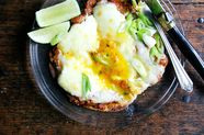 Huevos Rancheros with Blistered Tomato Salsa