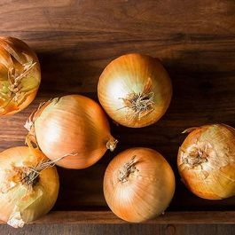 Onions caramelised by porchapples