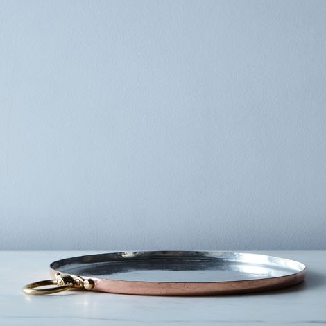 Vintage Copper Round Baking Sheet, Late 19th Century