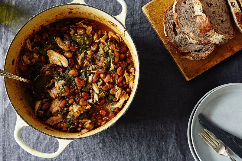 Chicken, Chard, and Cranberry Bean Stew