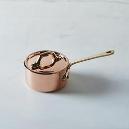 Mauviel M'héritage Copper Mini Saucepan with Lid, 0.4QT