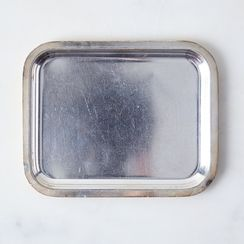 Vintage French Hotel Silver Tip Tray