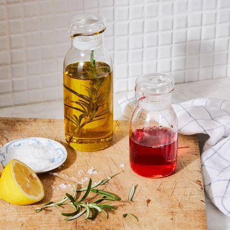 Shake, Pour, Preserve Glass Dressing Bottle