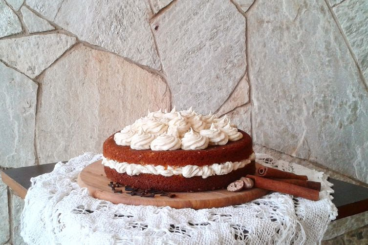 Chai Tea Cake with Black Tea Buttercream