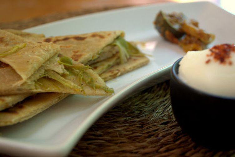 Radish & asparagus Paratha