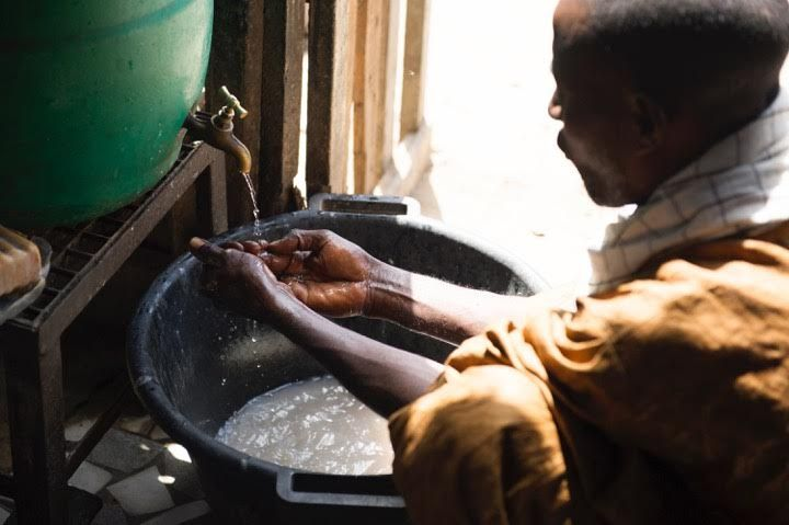 Washing hands before eating is an essential part of the meal.