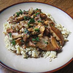 Wild  Mushroom Couscous