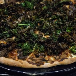 Kale and Many Mushroom Pizza