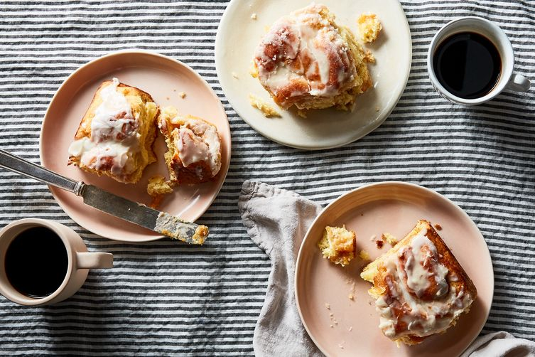 Peach Butter Cinnamon Rolls