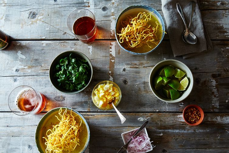 Khao Soi (Northern Thai Coconut-Curry Chicken Soup)