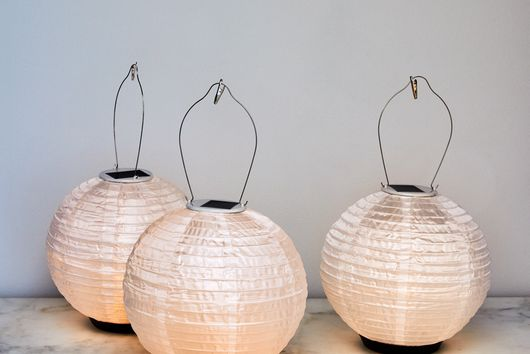 """10"""" Round Hanging and Tabletop Solar Lantern"""