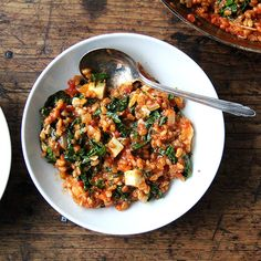 Farro Risotto with Greens and Feta