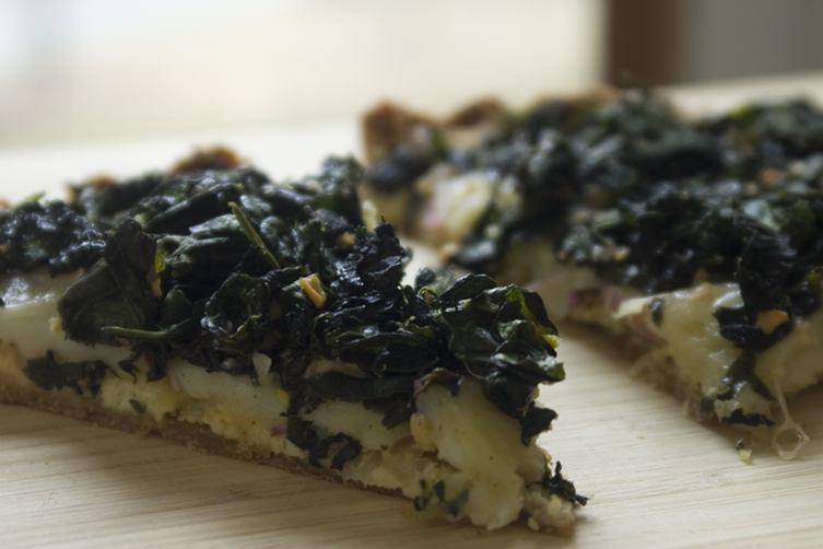 Savory Winter Greens Tart
