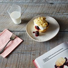 Polenta Shortcake with Blackberry Compote
