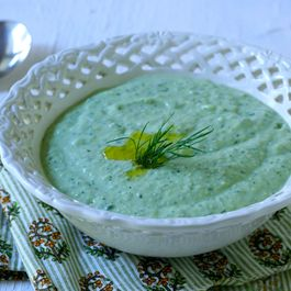 Avocado and Cucumber Summer Soup