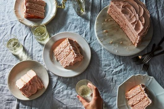 Pink Champagne Cake & 4 Others from Week 1 of The Fall Cookbook Cake Parade