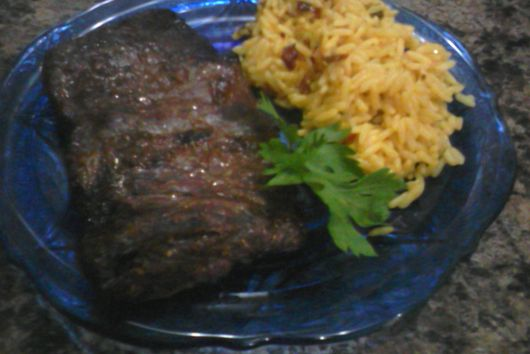 Flank Steak Marinated in Beer and Tex Mex Inspired