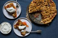 Apricot and Peach Crumb Pie