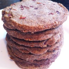 Buckwheat Butter Cookies with Cacao Nibs