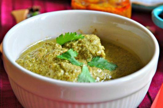 Cilantro Green Chutney Chicken Curry