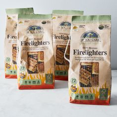Non-GMO Vegetable Oil Firelighters (Set of 4)
