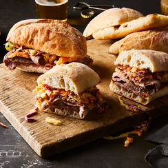 Grilled Steak Sandwich with Blue Cheese Coleslaw