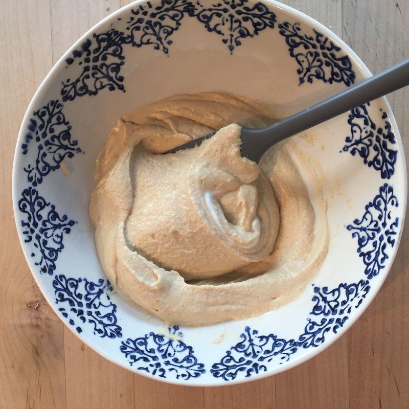 See that yogurt streak? The hummus is already easier to swirl and scoop.