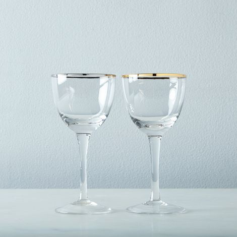 Metallic Rimmed Cocktail Glasses (Set of 6)
