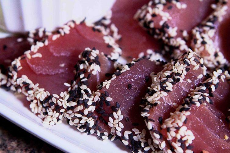 Sashimi Sesame Tuna with Asian Dipping Sauce