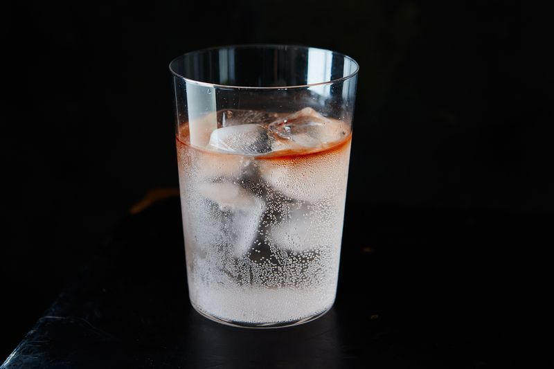 Bitters + soda: The perfect drink.
