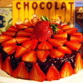 D26c2d80 3a35 416a b7e4 27a9a4cb5012  chocolat cake with ganache and strawberries ii 2013 copy