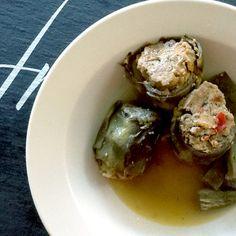 stuffed baby artichokes (carciofi ripieni)