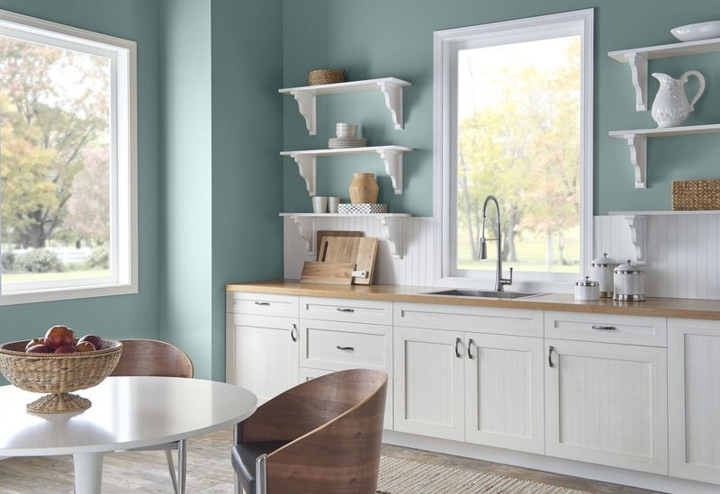 kitchen cabinets design images behr s color of the year is soothing and tranquil 20273