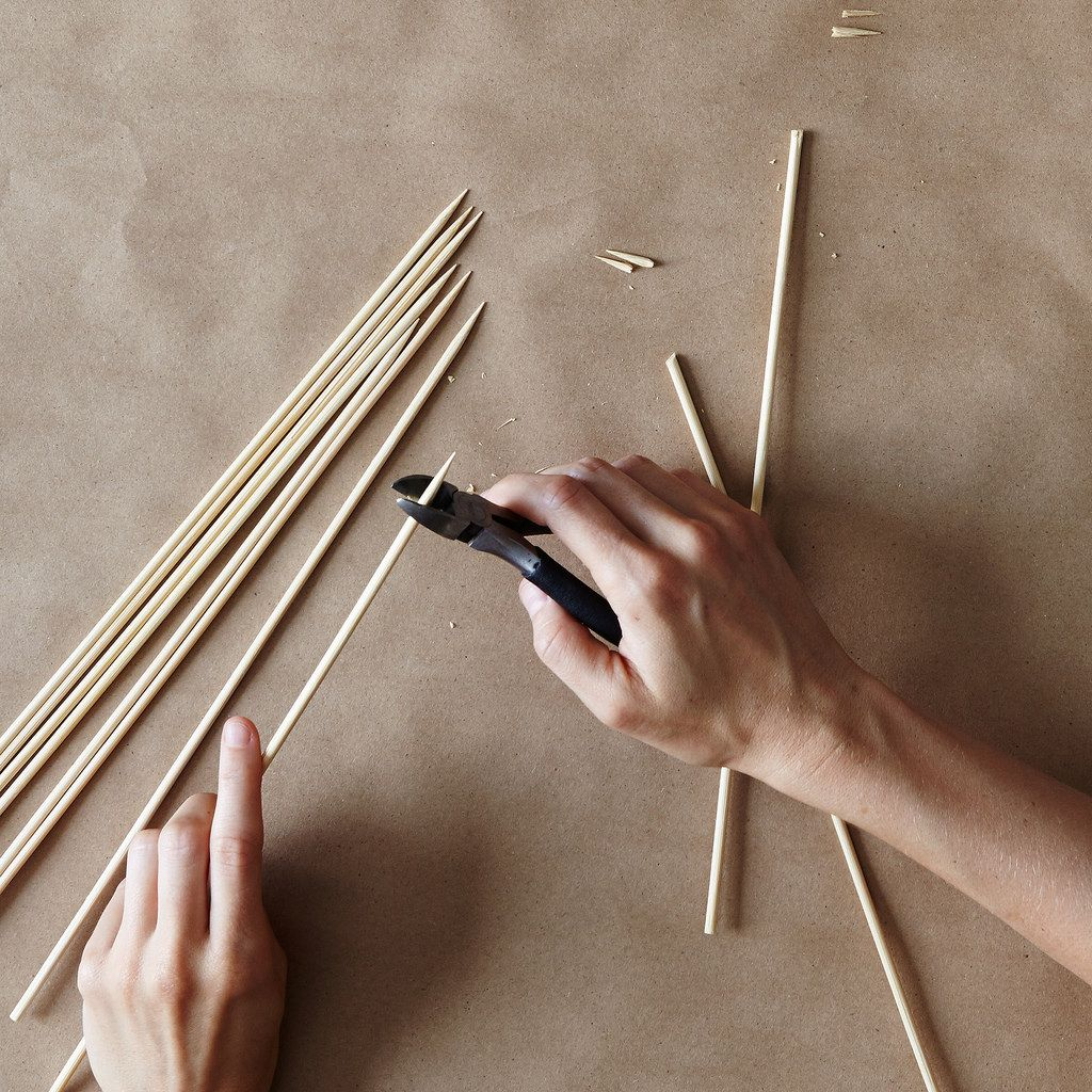 DIY Sparklers How to Trim Bamboo Skewers Caitlin Pike