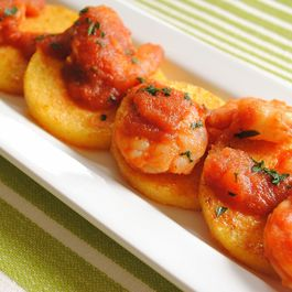 Griddled Polenta Cakes and Spicy Chipotle Shrimp