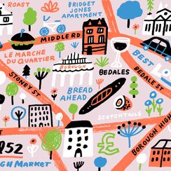 An Illustrated Guide to Borough Market's Provisions, Landmarks, and Quirks
