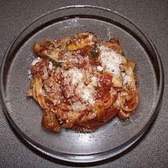 Sausage and Zucchini Fettucine
