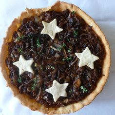 Onion and blue cheese tart