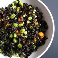 For the Joy Salad with Brussels Sprouts, Kale, Squash + Candied Hazelnuts