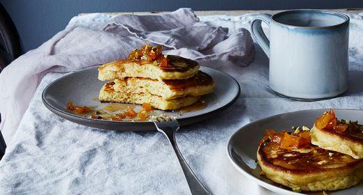 4e5a42c5 3151 4b59 998f fe7c683ece43  2016 1213 ricotta brown butter pancakes maple bourbon apricots bobbi lin 13479