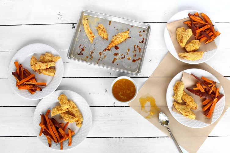 Fresh City Chicken Fingers & Sweet Potato Fries
