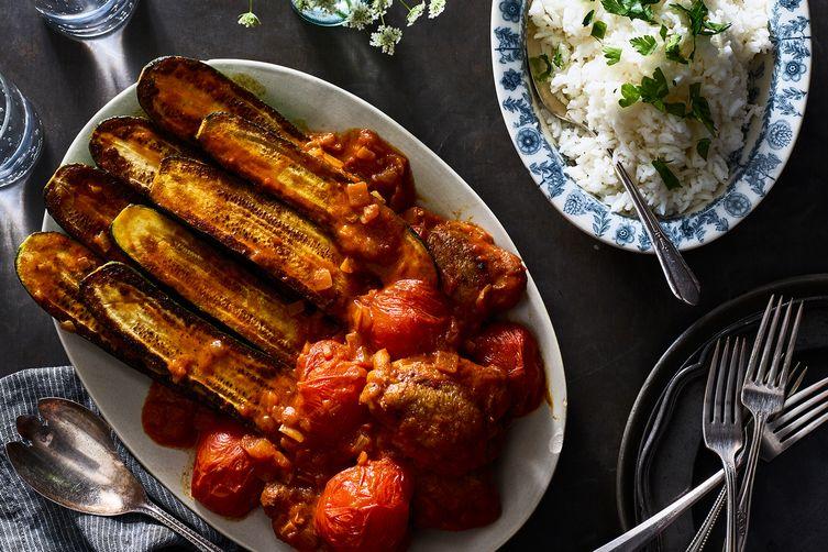 Persian Zucchini Stew With Chicken (Khoresh Kadoo)